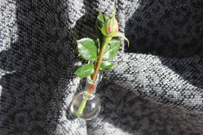 Rosebud pin.